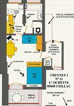 Appartement - CEILLAC - STUDIO 2/3 PERS 2* LE CHEYNET 1 F21