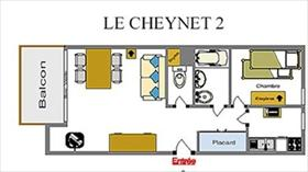 Appartement - CEILLAC - APPARTEMENT 4 PERS 2* LE CHEYNET 2 J8