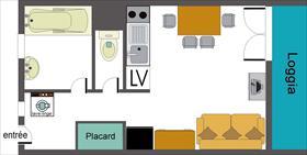 Appartement - CEILLAC - STUDIO 2 PERS 3* LE CRISTILLAN H8